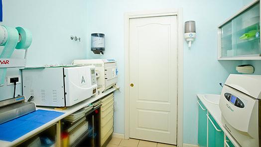 Sala sterilizzazione di Ferrara