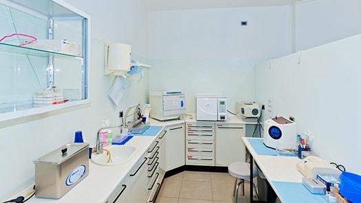 Sala sterilizzazione di Codigoro